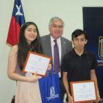 Alumnos del Colegio San Jorge premiados por obtener Puntajes Regionales en PSU